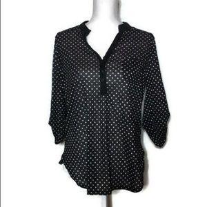 : Black &White Polka Dot Blouse
